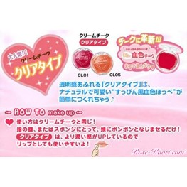 Canmake instruction d'application en version japonaise